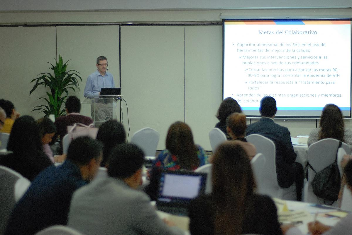 Workshop facilitator, Dr. Herman Willems, JSI HIV Clinical and Quality Improvement Advisor