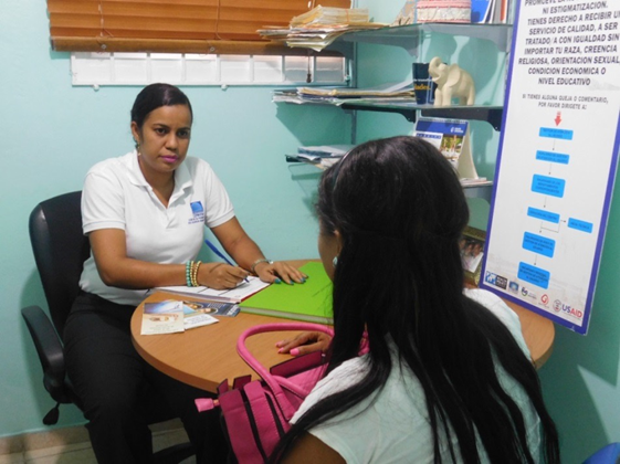 Kayla, receiving psychological support at CEPROSH.