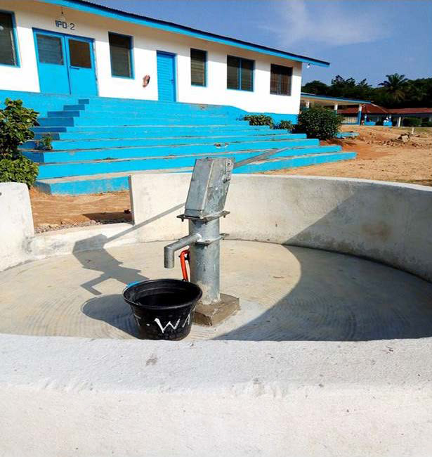 Photo of a well for pumping water.