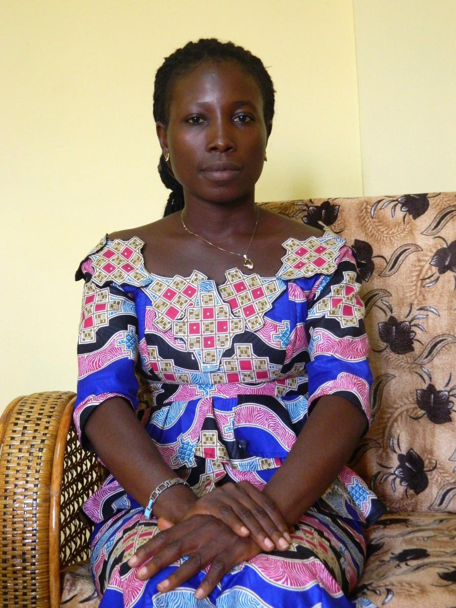 Pauline Bono, a 29-year old nurse and Ebola survivor, is the president of the Nzérékoré Survivor Association.