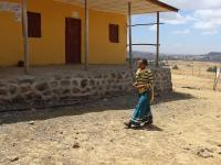 Photo of Alemnesh Assefa walking outside