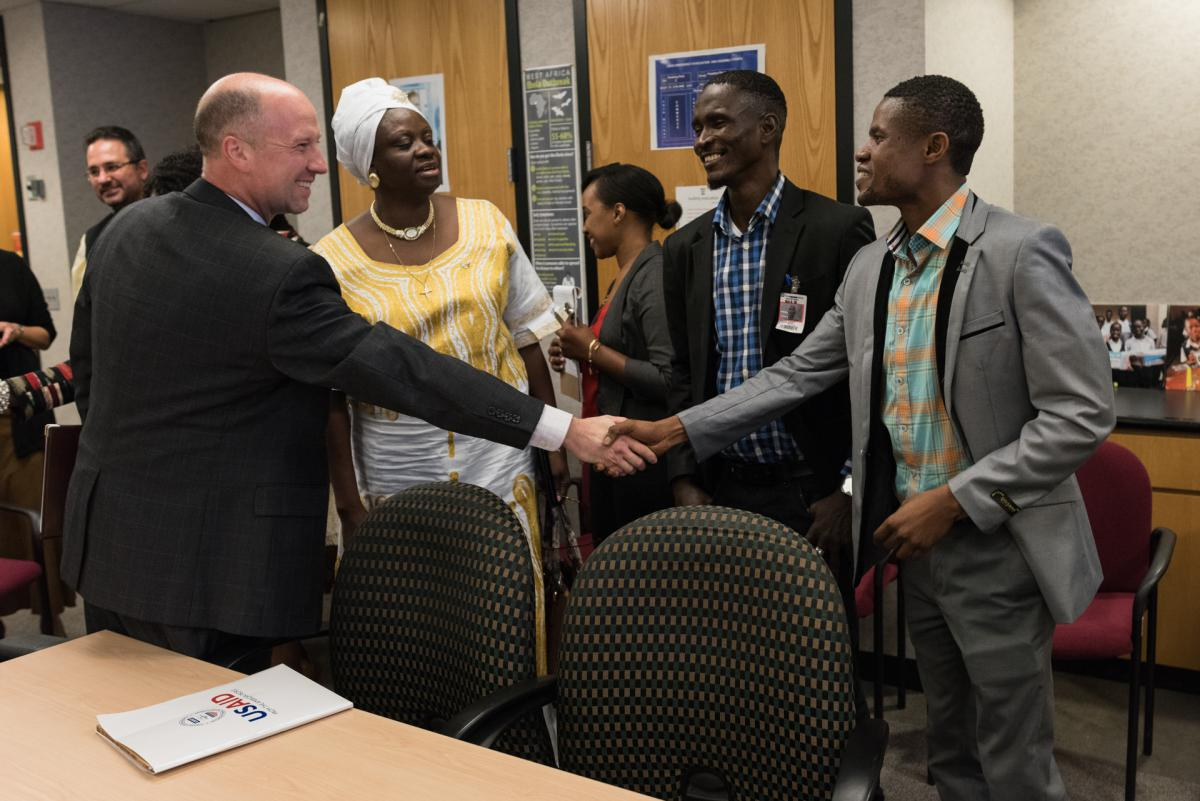 Ebola survivors meeting with USAID