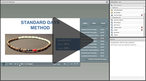 Screenshot of webinar by Dominick Shattuck (click to view).